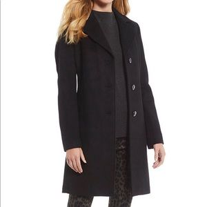 Kenneth Cole Reaction Wool Blend Coat Black